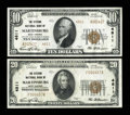 National Bank Notes:West Virginia, Martinsburg, WV - $10 1929 Ty. 2 The Citizens NB Ch. # 4811. Martinsburg, WV - $20 1929 Ty. 1 The Citizens NB Ch... (Total: 2 notes)