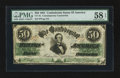 Confederate Notes:1861 Issues, CT-16 Counterfeit $50 1861.. ...