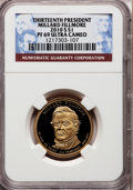 Proof Presidential Dollars, 2010-S $1 Millard Fillmore PR69 Ultra Cameo NGC. PCGS Population(1916/211). Numismedia Wsl. Price for ...