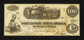 Confederate Notes:1862 Issues, T39 $100 1861 PF-13 Cr. 294.. ...