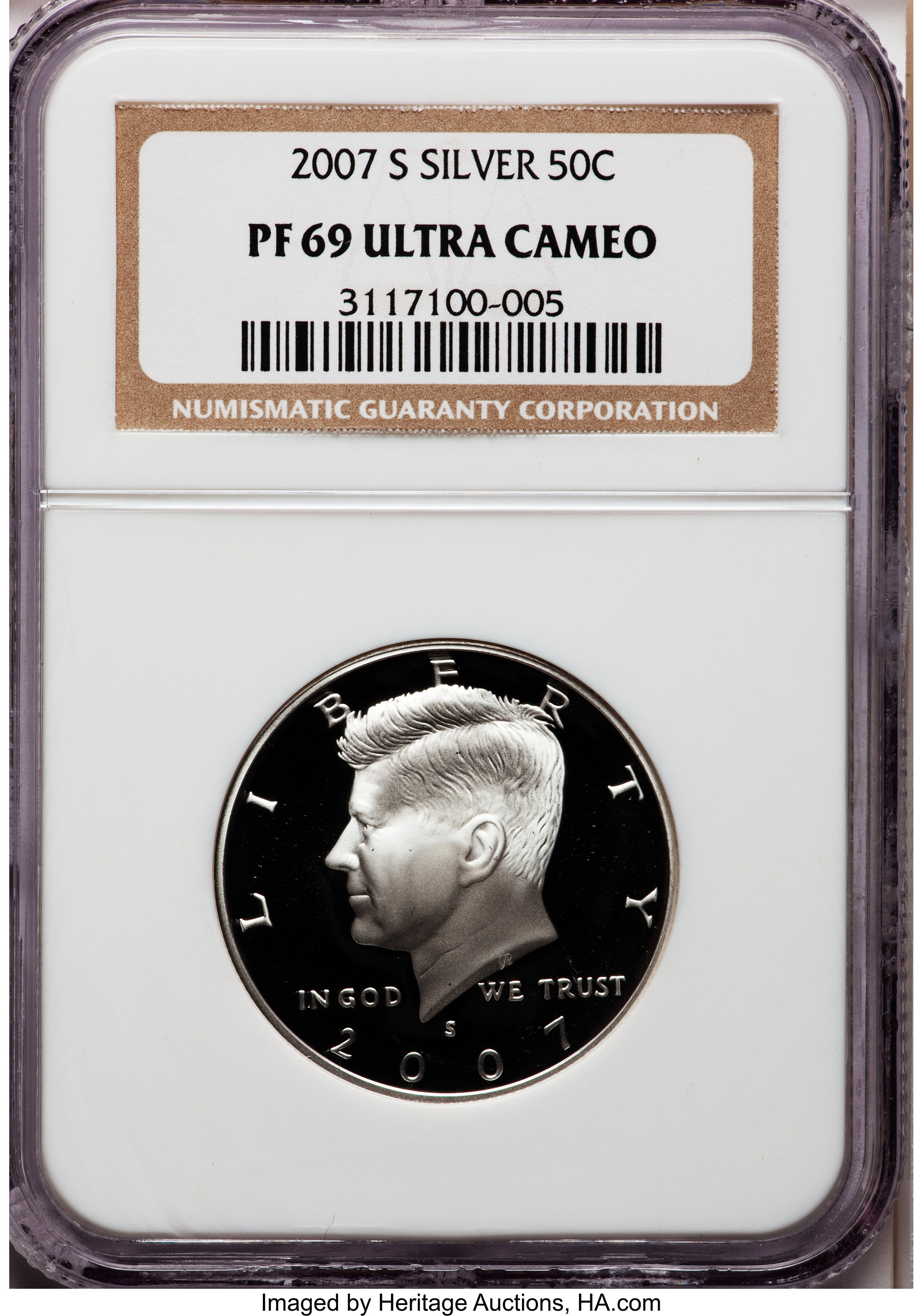 2007-S Silver Kennedy Half Dollar NGC PF-69 Ultra Cameo 170790