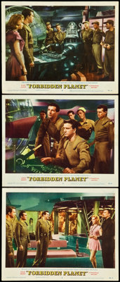 """Forbidden Planet (MGM, 1956). Lobby Cards (3) (11"""" X 14""""). ... (Total: 3 Items)"""