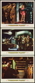 """Movie Posters:Science Fiction, Forbidden Planet (MGM, 1956). Lobby Cards (3) (11"""" X 14"""").. ...(Total: 3 Items)"""