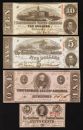 Confederate Notes:Group Lots, Four April 6, 1863 Notes Very Fine or Better.. ... (Total: 4 notes)