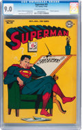 Golden Age (1938-1955):Superhero, Superman #41 (DC, 1946) CGC VF/NM 9.0 Off-white to white pages....