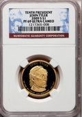 Proof Presidential Dollars, 2009-S $1 John Tyler PR69 Ultra Cameo NGC. NGC Census: (0/0). PCGSPopulation (1697/141). Numismedia Wsl. Price for proble...