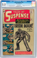 Silver Age (1956-1969):Superhero, Tales of Suspense #39 (Marvel, 1963) CGC FN- 5.5 Off-white pages....