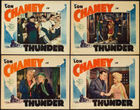 "Thunder (MGM, 1929). Lobby Cards (4) (11"" X 14""). Drama. ... (Total: 4 Items)"