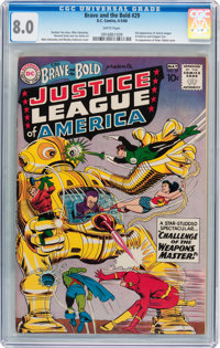 The Brave and the Bold #29 Justice League of America (DC, 1960) CGC VF 8.0 White pages