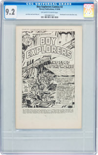 Boy Explorers Comics #2 (Harvey, 1946) CGC NM- 9.2 Off-white to white pages