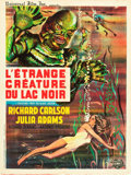 """Movie Posters:Horror, Creature from the Black Lagoon (Universal International, R-1962). French Affiche (23.75"""" X 31.5"""").. ..."""
