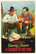"Movie Posters:Western, A Debtor to the Law (Pan American, 1919). One Sheet (27"" X 41"").. ..."