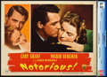 "Movie Posters:Hitchcock, Notorious (RKO, 1946). CGC Graded Lobby Card (11"" X 14"").. ..."