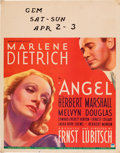 "Movie Posters:Drama, Angel (Paramount, 1937). Jumbo Window Card (22"" X 28"").. ..."
