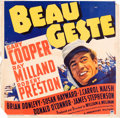 "Movie Posters:Adventure, Beau Geste (Paramount, 1939). Jumbo Window Card (22"" X 21"").. ..."