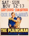 "Movie Posters:Western, The Plainsman (Paramount, 1936). Jumbo Window Card (22"" X 28"")....."