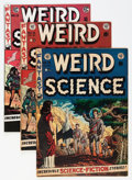 Golden Age (1938-1955):Science Fiction, Weird Science Group (EC, 1952-73) Condition: Average FN-....(Total: 3 Comic Books)