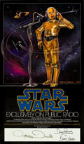 "Movie Posters:Science Fiction, Star Wars (20th Century Fox, 1981). Autographed NPR Poster (17"" X29"").. ..."