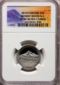 Proof National Parks Quarters, 2010-S 25C Mount Hood National Forest Silver PR69 Ultra Cameo NGC.PCGS Population (1525/376). (#41885...