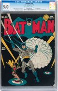 Batman #13 (DC, 1942) CGC VG/FN 5.0 Off-white to white pages