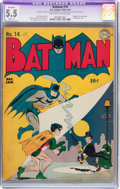 Golden Age (1938-1955):Superhero, Batman #14 (DC, 1943) CGC Apparent FN- 5.5 Slight (A) Off-white to white pages....