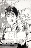 Original Comic Art:Covers, Joe Corroney True Blood #4 Cover Original Art (IDW,2010).... (Total: 2 Original Art)