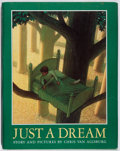Books:Children's Books, Chris Van Allsburg. Just a Dream. Houghton Mifflin, 1990.First edition, first printing. Jacket is laminated and tap...