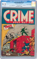 Golden Age (1938-1955):Crime, Crime Does Not Pay #37 Mile High pedigree (Lev Gleason, 1945) CGC NM- 9.2 Off-white to white pages....