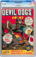 Golden Age (1938-1955):War, Devil Dogs #1 Carson City pedigree (Street & Smith, 1942) CGC VF/NM 9.0 Off-white pages....