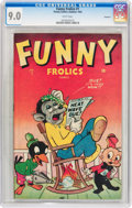 Golden Age (1938-1955):Funny Animal, Funny Frolics #1 Vancouver pedigree (Timely, 1945) CGC VF/NM 9.0White pages....
