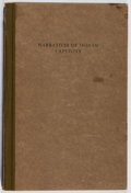 Books:Americana & American History, Narratives of Captivity Among the Indians of North America.Newberry Library, 1912. First edition, first printing. E...