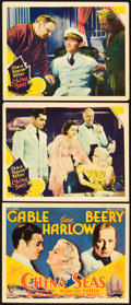 "Movie Posters:Romance, China Seas (MGM, 1935). Title Lobby Card & Lobby Cards (2) (11""X 14"").. ... (Total: 3 Items)"