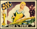 "Movie Posters:Comedy, Goin' to Town (Paramount, 1935). Lobby Card (11"" X 14"").. ..."