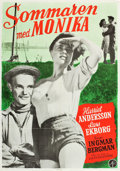 "Movie Posters:Drama, Summer with Monika (Svensk Filmindustri, 1953). Swedish One Sheet(27.25"" X 36.5"").. ..."