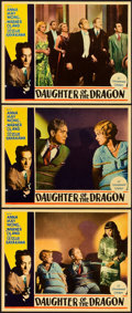 "Movie Posters:Crime, Daughter of the Dragon (Paramount, 1931). Lobby Cards (3) (11"" X14"").. ... (Total: 3 Items)"