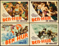 """Movie Posters:Historical Drama, Ben-Hur (MGM, R-1931). Title Lobby Card and Lobby Cards (3) (11"""" X14"""").. ... (Total: 4 Items)"""