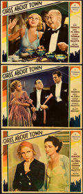 "Movie Posters:Comedy, Girls About Town (Paramount, 1931). Lobby Cards (3) (11"" X 14"")..... (Total: 3 Items)"