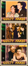 "Movie Posters:Drama, Guilty Hands (MGM, 1931). Lobby Cards (3) (11"" X 14"").. ... (Total:3 Items)"