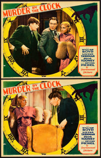 """Murder by the Clock (Paramount, 1931). Lobby Cards (2) (11"""" X 14""""). ... (Total: 2 Items)"""
