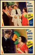 "Movie Posters:Drama, His Woman (Paramount, 1931). Lobby Cards (2) (11"" X 14"").. ...(Total: 2 Items)"