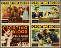 "Movie Posters:Drama, Sporting Blood (MGM, 1931). Title Lobby Card and Lobby Cards (3)(11"" X 14"").. ... (Total: 4 Items)"