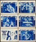 """Movie Posters:Comedy, That's My Line (RKO-Pathé Distributing, 1931). Title Lobby Card andLobby Cards (5) (11"""" X 14"""").. ... (Total: 6 Items)"""