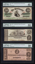 Confederate Notes:Group Lots, A Trio of Confederate Notes.. ... (Total: 3 notes)