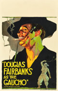"""Movie Posters:Adventure, The Gaucho (United Artists, 1927). Window Card (14"""" X 22"""").. ..."""