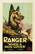 "Movie Posters:Adventure, When a Dog Loves (FBO, 1927). One Sheet (27"" X 41"") Style A.. ..."
