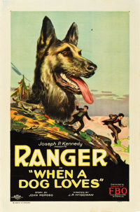"When a Dog Loves (FBO, 1927). One Sheet (27"" X 41"") Style A"