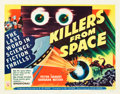 "Movie Posters:Science Fiction, Killers from Space (RKO, 1954). Half Sheets (2) (22"" X 28"") StylesA & B.. ... (Total: 2 Items)"