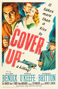 """Cover Up (United Artists, 1949). One Sheet (27"""" X 41"""")"""