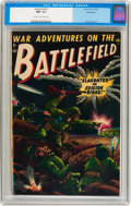 Golden Age (1938-1955):War, Battlefield #1 Bethlehem pedigree (Atlas, 1952) CGC NM- 9.2 Creamto off-white pages....