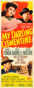 "Movie Posters:Western, My Darling Clementine (20th Century Fox, 1946). Insert (14"" X 36"").. ..."